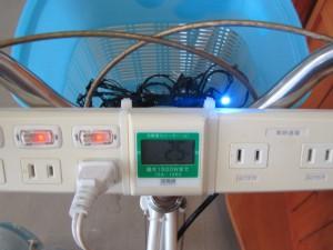発電自転車(消費電力メーター)
